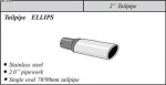 Stainless Steel ELLIPS 51 tailpipe